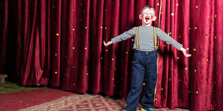 Kid on stage